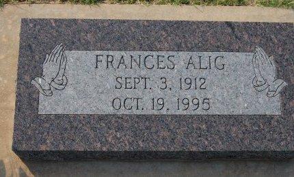 ALIG, FRANCES AGNES - Kingfisher County, Oklahoma | FRANCES AGNES ALIG - Oklahoma Gravestone Photos