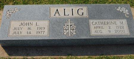 ALIG, JOHN L - Kingfisher County, Oklahoma | JOHN L ALIG - Oklahoma Gravestone Photos