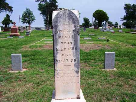 "DALTON CLUTE, NANCY MAY ""NANNIE"" - Kingfisher County, Oklahoma 