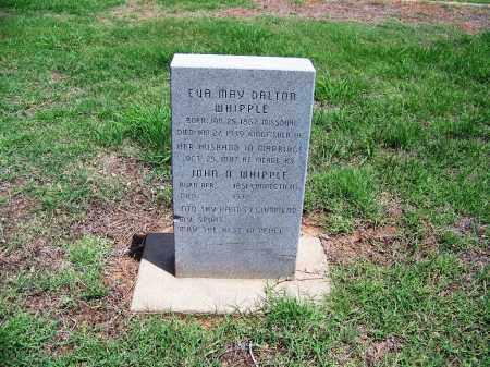 DALTON WHIPPLE, EVA MAY - Kingfisher County, Oklahoma | EVA MAY DALTON WHIPPLE - Oklahoma Gravestone Photos