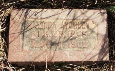 ATCHLEY, NANCY MALINDA - Kiowa County, Oklahoma | NANCY MALINDA ATCHLEY - Oklahoma Gravestone Photos