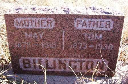 BILLINGTON, TOM - Kiowa County, Oklahoma | TOM BILLINGTON - Oklahoma Gravestone Photos