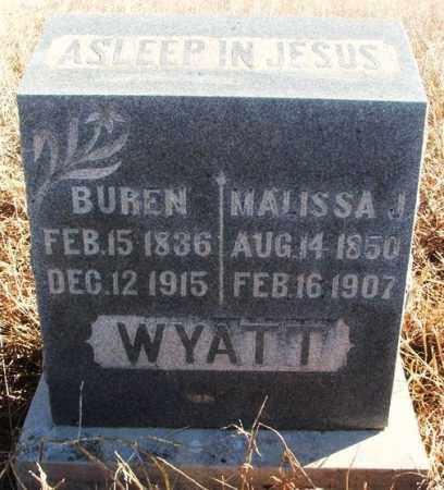 WYATT, BUREN - Kiowa County, Oklahoma   BUREN WYATT - Oklahoma Gravestone Photos