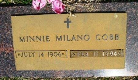 MILANO COBB, MINNIE MARGARET - Latimer County, Oklahoma | MINNIE MARGARET MILANO COBB - Oklahoma Gravestone Photos