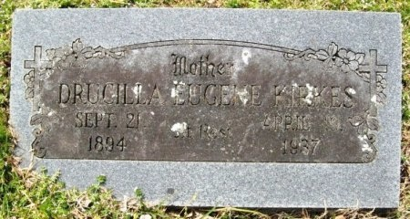 KIRKES, DRUCILLA EUGENE - Latimer County, Oklahoma | DRUCILLA EUGENE KIRKES - Oklahoma Gravestone Photos