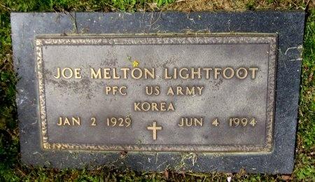 LIGHTFOOT, JOE MELTON   (VETERAN KOR) - Latimer County, Oklahoma | JOE MELTON   (VETERAN KOR) LIGHTFOOT - Oklahoma Gravestone Photos