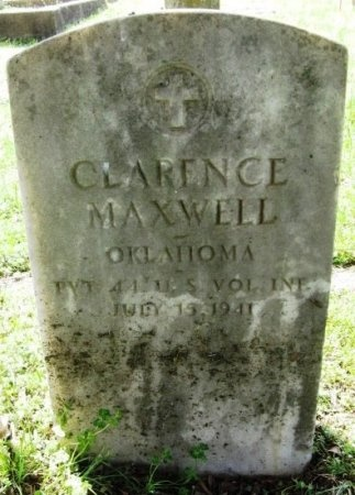 MAXWELL, CLARENCE (VETERAN SAW - Latimer County, Oklahoma | CLARENCE (VETERAN SAW MAXWELL - Oklahoma Gravestone Photos