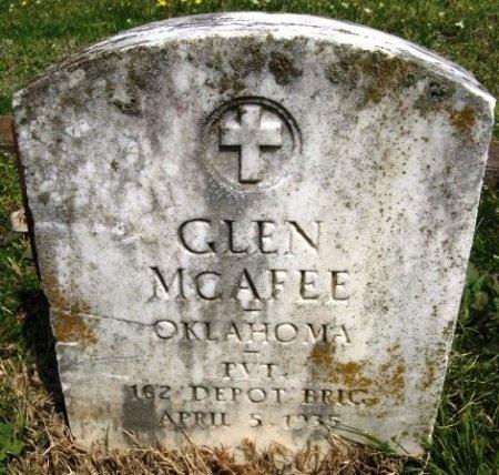 MCAFEE, GLEN (VETERAN WWI) - Latimer County, Oklahoma | GLEN (VETERAN WWI) MCAFEE - Oklahoma Gravestone Photos