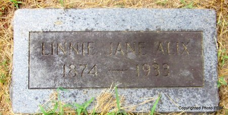 ALIX, LINNIE JANE - Le Flore County, Oklahoma | LINNIE JANE ALIX - Oklahoma Gravestone Photos