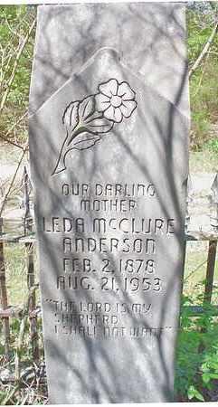 MCCLURE ANDERSON, LEDA - Le Flore County, Oklahoma   LEDA MCCLURE ANDERSON - Oklahoma Gravestone Photos