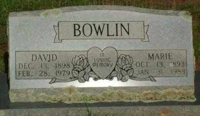 BOWLIN, DAVID - Le Flore County, Oklahoma | DAVID BOWLIN - Oklahoma Gravestone Photos