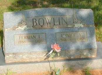 BOWLIN, EUNICIE V - Le Flore County, Oklahoma   EUNICIE V BOWLIN - Oklahoma Gravestone Photos