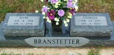 BRANSTETTER, MYRL - Le Flore County, Oklahoma | MYRL BRANSTETTER - Oklahoma Gravestone Photos