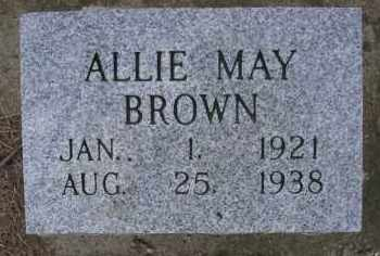 BROWN, ALLIE MAY - Le Flore County, Oklahoma | ALLIE MAY BROWN - Oklahoma Gravestone Photos