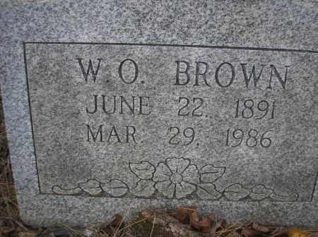 BROWN, W O - Le Flore County, Oklahoma | W O BROWN - Oklahoma Gravestone Photos