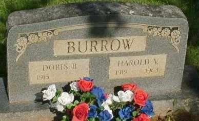 BURROW, HAROLD V - Le Flore County, Oklahoma   HAROLD V BURROW - Oklahoma Gravestone Photos