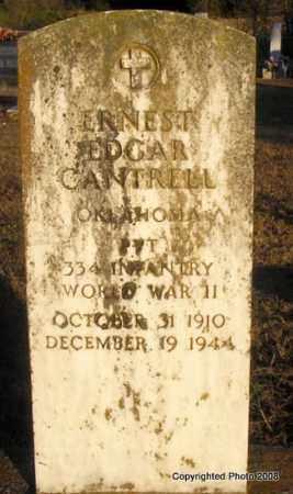 CANTRELL, ERNEST EDGAR - Le Flore County, Oklahoma | ERNEST EDGAR CANTRELL - Oklahoma Gravestone Photos