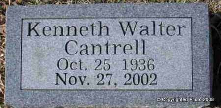 CANTRELL, KENNETH WALTER - Le Flore County, Oklahoma | KENNETH WALTER CANTRELL - Oklahoma Gravestone Photos