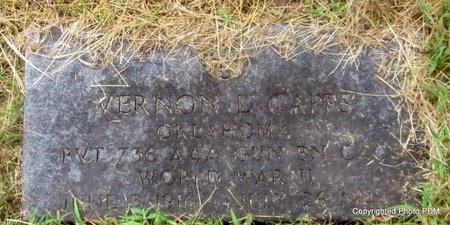 CAPPS, VERNON L  (VETERAN WWII) - Le Flore County, Oklahoma   VERNON L  (VETERAN WWII) CAPPS - Oklahoma Gravestone Photos