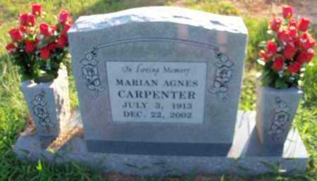 HODGE CARPENTER, MARIAN AGNES - Le Flore County, Oklahoma   MARIAN AGNES HODGE CARPENTER - Oklahoma Gravestone Photos