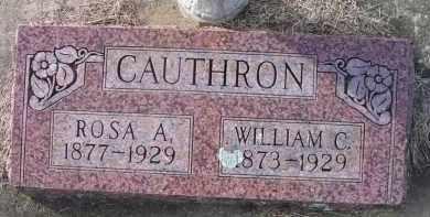 CAUTHRON, WILLIAM C - Le Flore County, Oklahoma | WILLIAM C CAUTHRON - Oklahoma Gravestone Photos