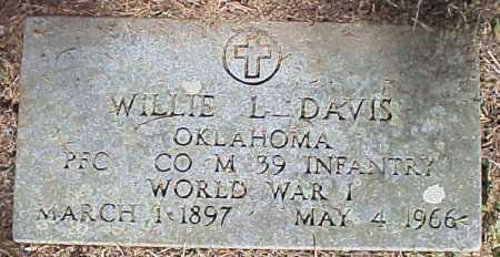 DAVIS   , WILLIE L  (VETERAN WWI) - Le Flore County, Oklahoma | WILLIE L  (VETERAN WWI) DAVIS    - Oklahoma Gravestone Photos
