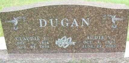 DUGAN, AUDIE A - Le Flore County, Oklahoma | AUDIE A DUGAN - Oklahoma Gravestone Photos