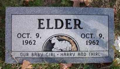 ELDER, BABY GIRL - Le Flore County, Oklahoma | BABY GIRL ELDER - Oklahoma Gravestone Photos