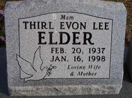 LEE ELDER, THIRL EVON - Le Flore County, Oklahoma | THIRL EVON LEE ELDER - Oklahoma Gravestone Photos