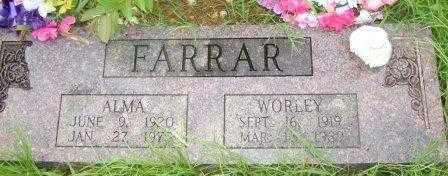 FARRAR, ALMA - Le Flore County, Oklahoma | ALMA FARRAR - Oklahoma Gravestone Photos