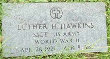 HAWKINS   , LUTHER H  (VETERAN WWII) - Le Flore County, Oklahoma | LUTHER H  (VETERAN WWII) HAWKINS    - Oklahoma Gravestone Photos