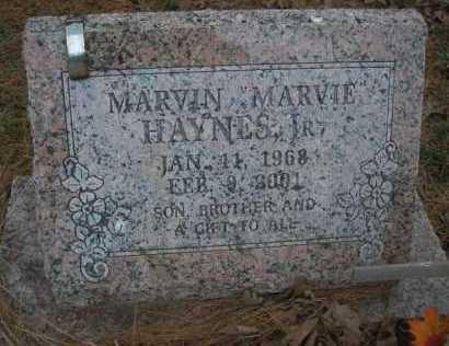"HAYNES, MARTIN, JR ""MARVIE"" - Le Flore County, Oklahoma | MARTIN, JR ""MARVIE"" HAYNES - Oklahoma Gravestone Photos"