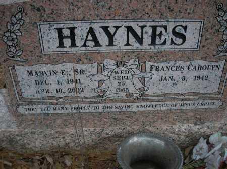 HAYNES, MARVIN E, SR - Le Flore County, Oklahoma | MARVIN E, SR HAYNES - Oklahoma Gravestone Photos