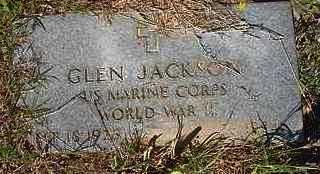 JACKSON   , GLEN  (VETERAN WWII) - Le Flore County, Oklahoma   GLEN  (VETERAN WWII) JACKSON    - Oklahoma Gravestone Photos