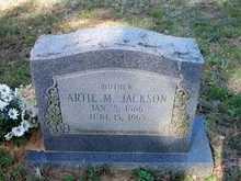 """JACKSON, ARTEMESIA  """"ARTIE""""  M   - Le Flore County, Oklahoma   ARTEMESIA  """"ARTIE""""  M   JACKSON - Oklahoma Gravestone Photos"""