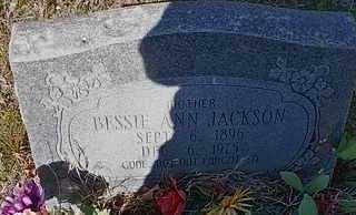 JACKSON, BESSIE ANN - Le Flore County, Oklahoma | BESSIE ANN JACKSON - Oklahoma Gravestone Photos