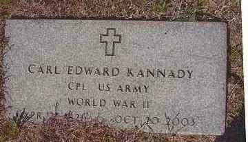 KANNADY   , CARL EDWARD  (VETERAN WWII) - Le Flore County, Oklahoma   CARL EDWARD  (VETERAN WWII) KANNADY    - Oklahoma Gravestone Photos