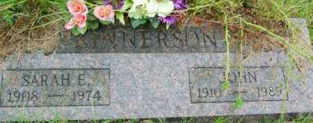 KINNERSON, SARAH E. - Le Flore County, Oklahoma   SARAH E. KINNERSON - Oklahoma Gravestone Photos