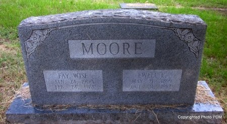 WISE MOORE, FAY - Le Flore County, Oklahoma | FAY WISE MOORE - Oklahoma Gravestone Photos