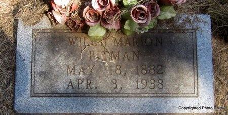 PITMAN, WILEY MARION - Le Flore County, Oklahoma | WILEY MARION PITMAN - Oklahoma Gravestone Photos