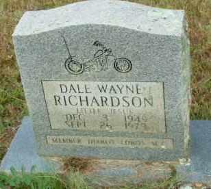RICHARDSON, DALE WAYNE - Le Flore County, Oklahoma | DALE WAYNE RICHARDSON - Oklahoma Gravestone Photos