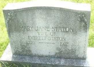 STATON, MARY JANE - Le Flore County, Oklahoma | MARY JANE STATON - Oklahoma Gravestone Photos