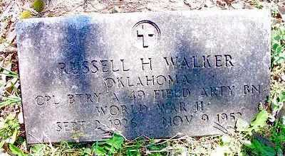 WALKER   , RUSSELL H    (VETERAN WWII) - Le Flore County, Oklahoma | RUSSELL H    (VETERAN WWII) WALKER    - Oklahoma Gravestone Photos
