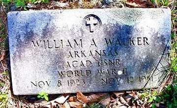 WALKER   , WILLIAM A  (VETERAN WWII) - Le Flore County, Oklahoma | WILLIAM A  (VETERAN WWII) WALKER    - Oklahoma Gravestone Photos