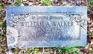 WALKER, WILLIAM A. - Le Flore County, Oklahoma | WILLIAM A. WALKER - Oklahoma Gravestone Photos