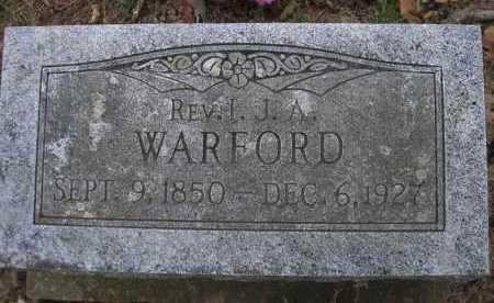 WARFORD, I J A, REV - Le Flore County, Oklahoma   I J A, REV WARFORD - Oklahoma Gravestone Photos