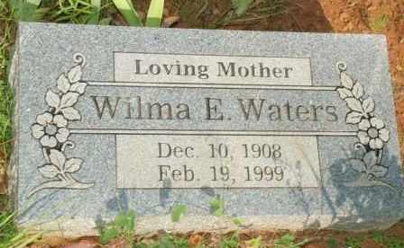 WATERS, WILMA E. - Le Flore County, Oklahoma   WILMA E. WATERS - Oklahoma Gravestone Photos