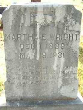WRIGHT, MARTHA E. - Le Flore County, Oklahoma | MARTHA E. WRIGHT - Oklahoma Gravestone Photos