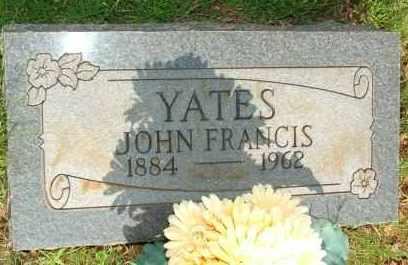 YATES, JOHN FRANCIS - Le Flore County, Oklahoma   JOHN FRANCIS YATES - Oklahoma Gravestone Photos