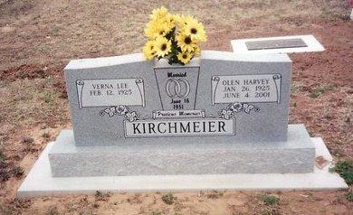 KIRCHMEIER, OLEN HARVEY - Lincoln County, Oklahoma | OLEN HARVEY KIRCHMEIER - Oklahoma Gravestone Photos